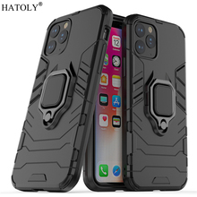 For iPhone 11 Pro Case Cover Finger Ring Phone Back Shell Hard PC Protective Armor
