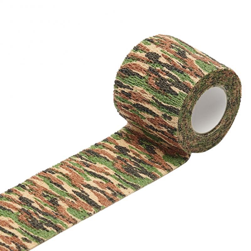 Outdoor camouflage nicht-woven selbst-adhesive elastische bandage 5CM X 4,5 M camouflage wasserdichte multi-funktionale verband