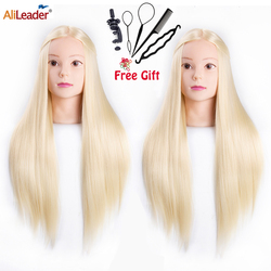 Alileader Best Quality Hair Mannequins Salon Hairdressing Hair Styling Training Head Hair Practice And Holder Hairstyle Practice