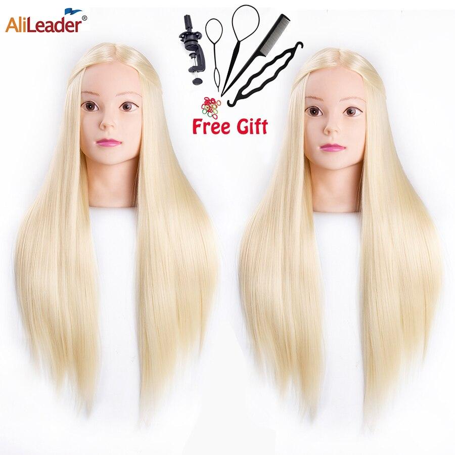 Alileader en kaliteli saç mankenler Salon kuaförlük saç şekillendirici eğitim başlığı saç uygulama ve tutucu saç uygulama