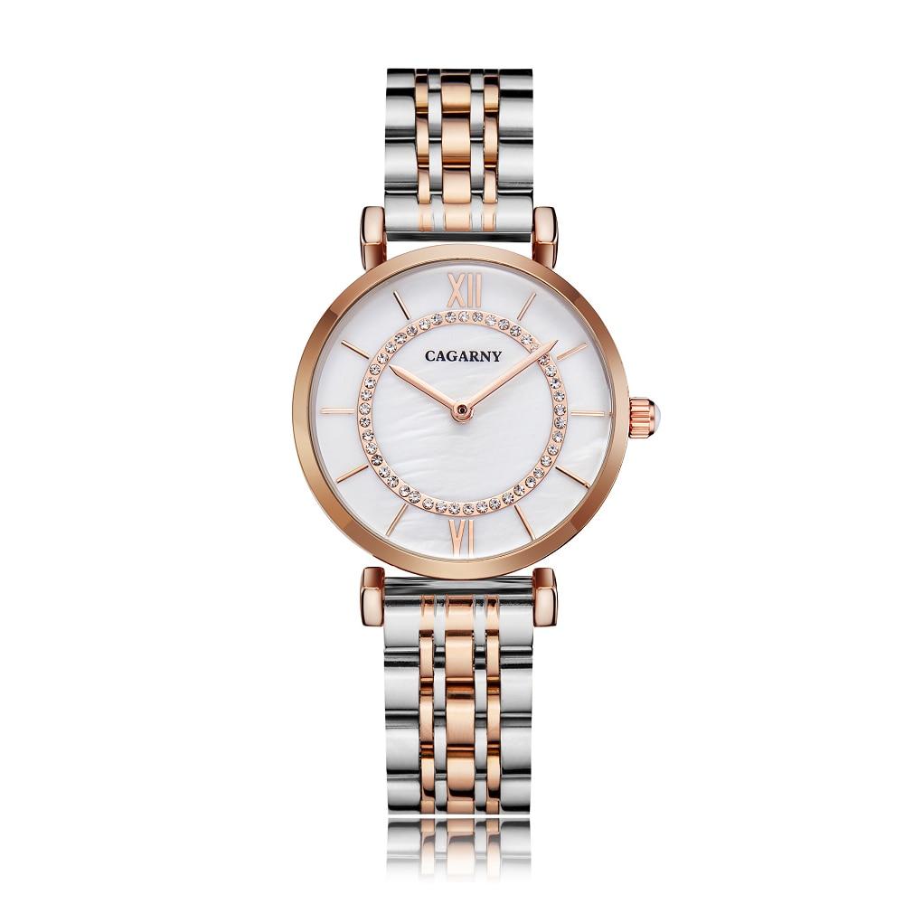 Hff377db2fce5453d8ecbcb8d692828e72 Silver Rose Gold Stainless Steel Bracelet Watch For  Women