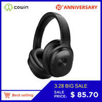 Cowin SE7 ANC Active Noise Cancelling Bluetooth Headphones Wireless Headset with apt-x microphone for phones -30dB level