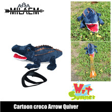 Archery Arrow Quiver Cartoon Crocodile Plush Toy Holder Cute Creative Bag Fun Shooting Hunting Accessories