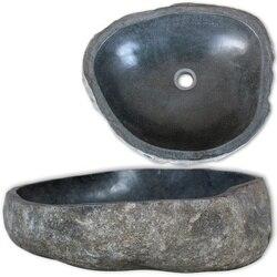 فريد الطبيعية حوض حجري أحجار نهرية البيضاوي بالوعة الحمام مغسلة بسلاسة سطح داخلي حمام النحاس مجموعة اكسسوارات الحمام
