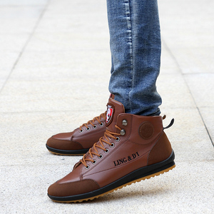 Image 3 - גברים של מגפי אביב ובסתיו חורף נעלי גדול גודל B מחלקת Botas Hombre עור מגפי נעלי סניקרס מגפי גברים נעליים