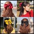 2020BIG Bow резинки для волос кольцо для волос карамельного цвета заколка для волос держатель для хвоста Женские аксессуары для волос банты для ...