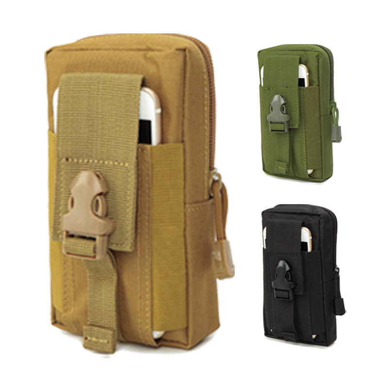 Outdoor Molle Belt Loop Pouch Mobile Phone Case Cover Holster Waist Bum Zip Bag