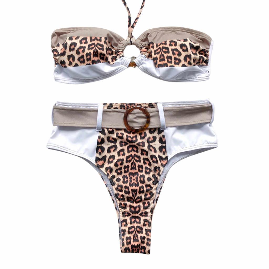 Mode Leoaprd maillots de bain femmes Bikini léopard ensemble maillot de bain deux pièces rempli soutien-gorge maillots de bain maillots de bain Micro Bikini extrême Sexy