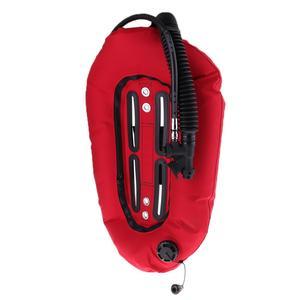 Image 4 - Крыло пончика для подводного плавания с аквалангом 30 фунтов/13,3 кг с одной трубкой, технология BCD, задняя пластина для профессиональных диверов, техническое оборудование