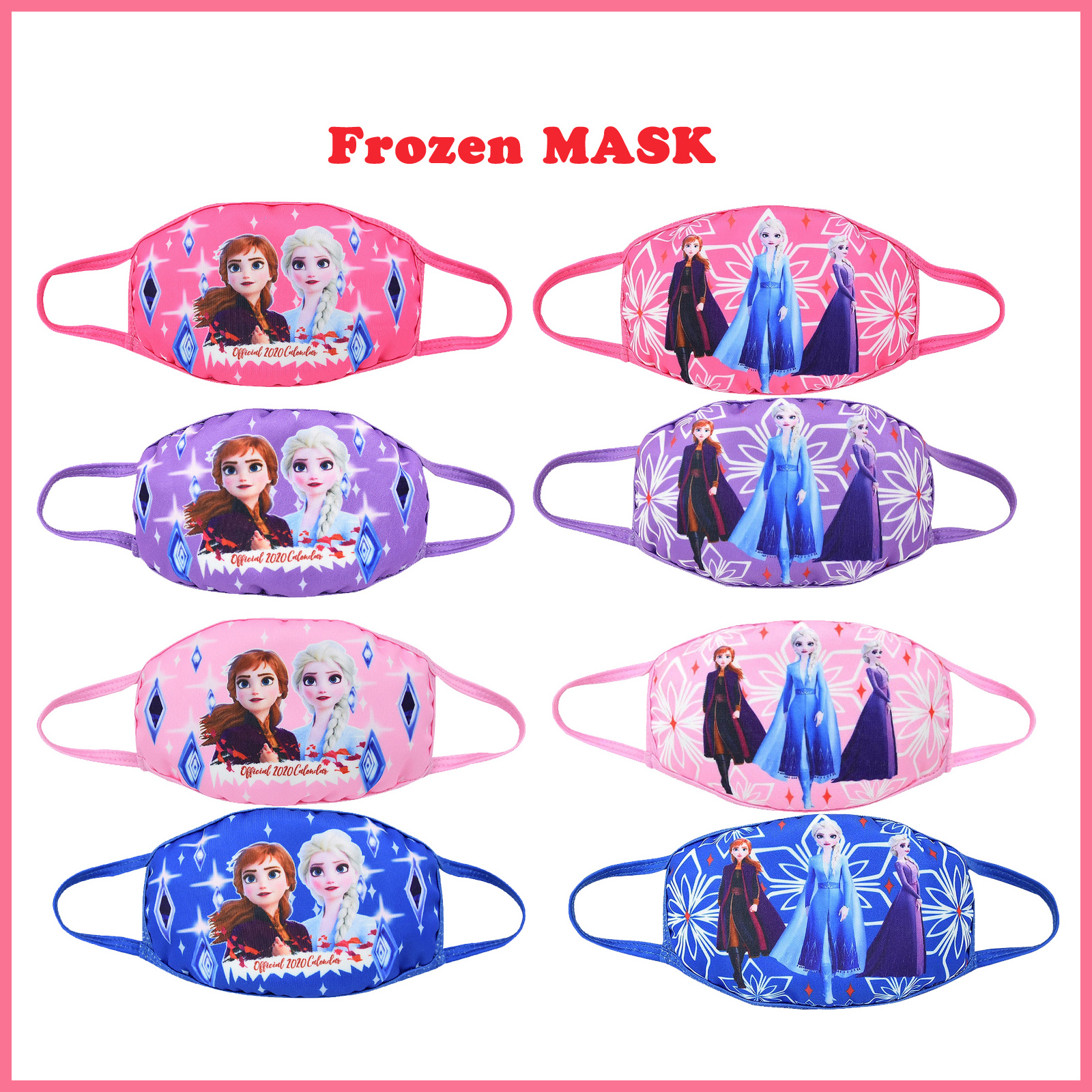 Original 2020 Frozen 2 Kids Cotton Masks Disney Princess Anna Elsa Anime Figures Face Mouth Protection Masks Gifts For Girls