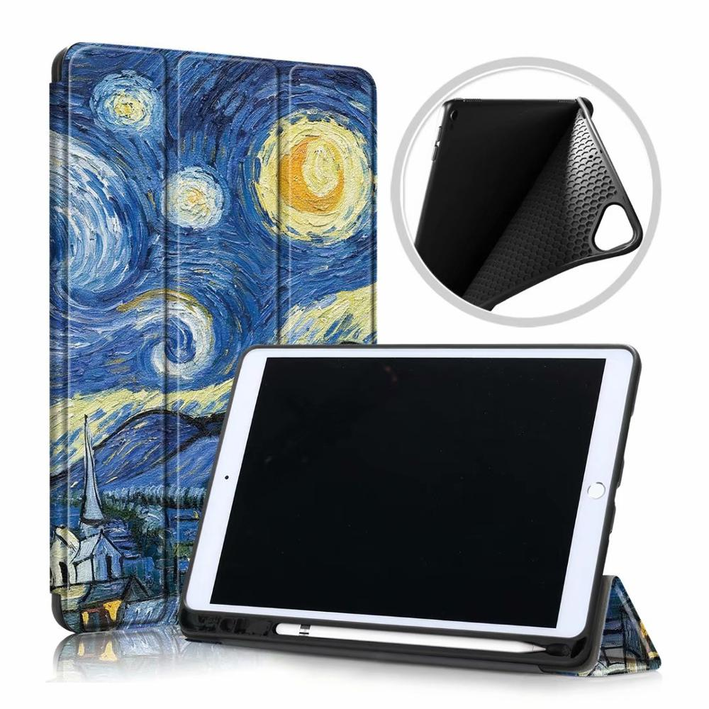 Blue Sky Beige Ultra Slim Coque For iPad 10 2 2019 Case A2200 A2198 A2232 Smart Magnetic Folding Stand