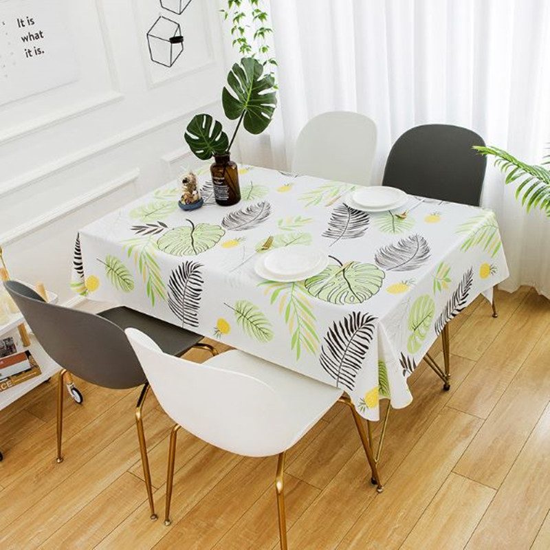Country Style Table Cloth PVC Tablecloth Washable Waterproof Oil-proof Rectangular Table Cover Restaurant Coffee Table Mat