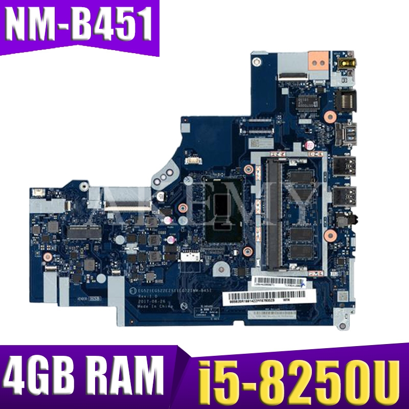 For Lenovo Ideapad 320-15IKB Laptop Motherboard With I5-8250U CPU 4GB RAM DDR4 5B20Q13067 NM-B451 100% Tested Fast Ship