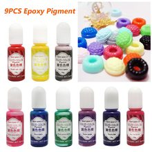 9 Buah/Set Seni Perhiasan Membuat Konsentrat Cair Padat Warna Pigmen UV Cat Epoxy Resin Kerajinan Pewarna Diy Praktis Model(China)