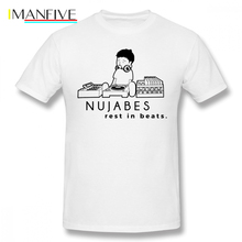 Samurai Champloo T Shirt Nujabes T-Shirt 100 Percent Cotton Graphic Tee Plus size Fun Short Sleeve Male Basic Tshirt