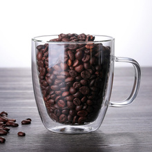 Coffee Mugs With the Handle Drinking Insulation Double Wall Glass Tea Cup insulated tumbler drinking trave wine  glasses
