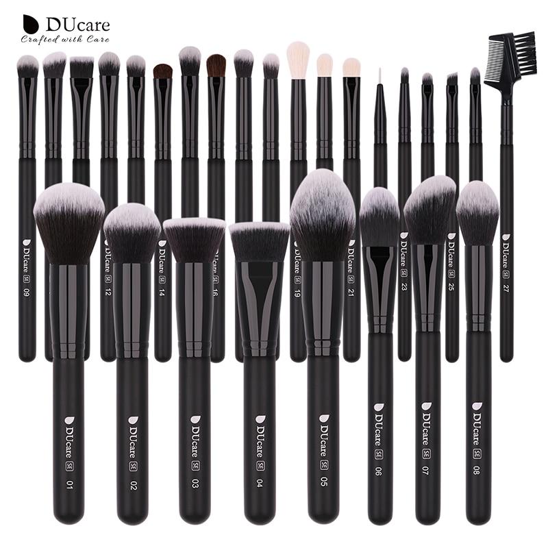 DUcare Make Up Brushes Professional Natural Goat Hair Makeup Brushes Set Foundation Powder Concealer Contour Eyes Blending Brush