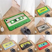 New Fun Vintage Cassette Tape Door Mat Entrance Corridor Anti-Slip Mat For Kitchen Bathroom Living Room Vacuuming Carpet Ковер
