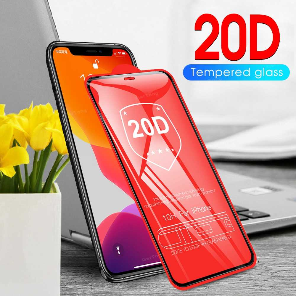 20D Full Cover Protective Glass For iPhone 11 Pro Max Screen Protector For iPhone 10 X XR XS Max 6S 7 8 Plus Toughened Glass