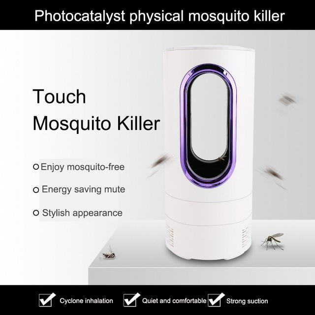 Fotokatalizator urządzenie przeciw komarom odstraszający promieniowanie Usb wdychanie elektryczna lampa do zabijania komarów elektroniczny komar tanie i dobre opinie 110-240 v Powyżej 8 Godzin Kabel usb do ładowania mosquito killer lamp cover 60 square meters long