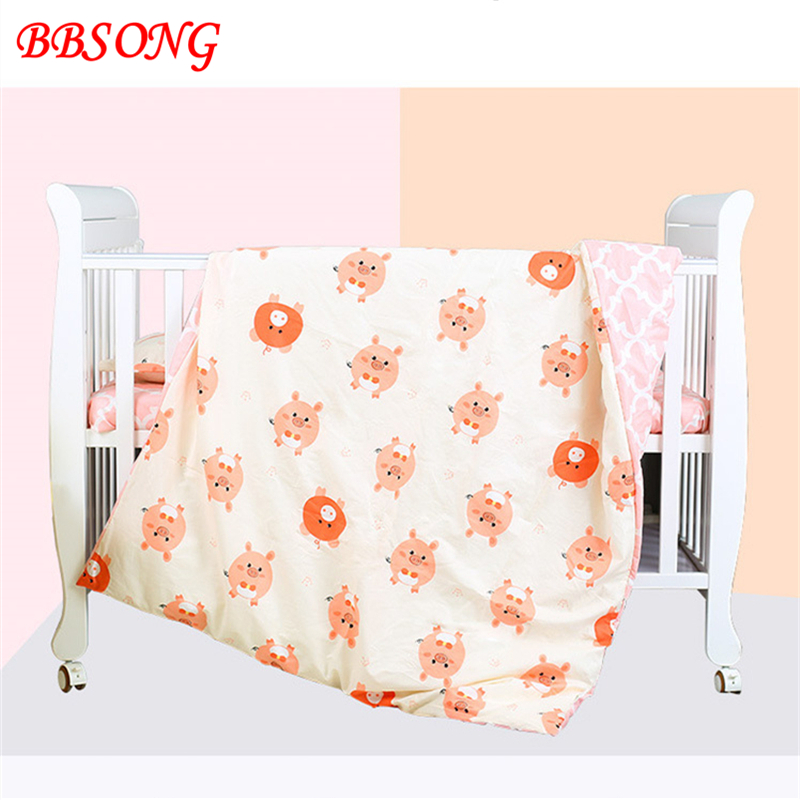 BBSONG High Quality Cotton Soft Breathable Duvet Quilt Cover Without Filler For Boy Girl Newborn Cartoon Animal Baby Bedding Set