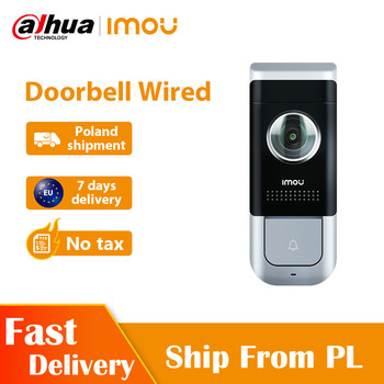 Dahua Imou DB11 Video Doorbell Wired  1080P With PIR Detection Night Vision 140 Degree Wide Viewing Angle Two-Way Talk Doorbell 4 viewing modes wired mouse model of electronic typoscope for senior citizens vision impared tv magnifier