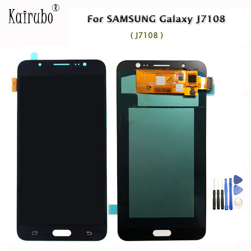 5 5inch OLED Screen For Samsung for Galaxy J7108 LCD Display Touch Screen Digitizer Assembly Tools