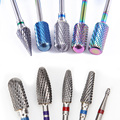 Carbide Tungsten Nail Bits Milling Cutter Burrs Electric Nail Drill Bit Pedicure Cuticle Clean Tools For Manicure Buffers Drill