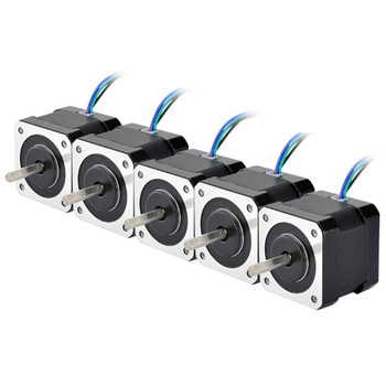5PCS 4 Lead Nema 17 Stepper Motor 42BYGH 40Mm 1M Cable 45Ncm (64Oz.In) 2A 17Hs4401 Step Motor for 3D Printer