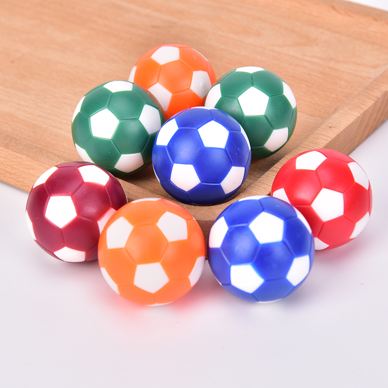 8pcs Premium Material Resin Mini Colorful Table Soccer Footballs Replacement Balls Tabletop Game Mini Soccer Ball 32mm