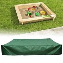 Sandbox-Cover Dustproof with Drawstring Sandpit Green 120x120cm Square