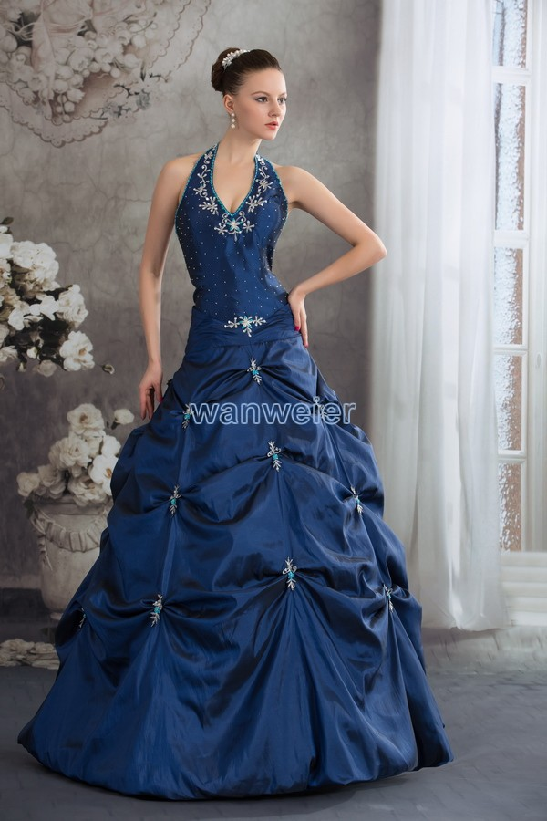 Free Shipping 2018 Blue Beading Fantasias Handmade Custom Brides Crystal Curtain Decoration Prom Mother Of The Bride Dresses