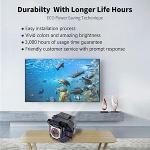 Image 4 - Projektor zastępczy lampa EX9210 EX9220 EX3260 EX5260 EX7260 PowerLite 1266 1286 dla ELPLP96/V13H010L96 z obudową
