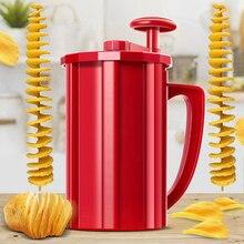 Ручное устройство для резки картофеля спиральный слайсер витой Торнадо овощи морковь резак Вихрь машинка для картофельных чипсов Кухня DIY кухонные инструменты