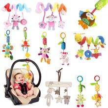 Bebê recém-nascido brinquedos de pelúcia carrinho de bebê chocalhos 0-12 meses speelgoed celulares dos desenhos animados animal pendurado sino brinquedos educativos do bebê