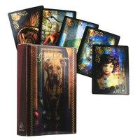 Más luz láser Lenormand tarjetas de Oracle cubierta misteriosa orientación adivinación destino Tarot cartas juego de mesa para la familia, regalo para Amiga