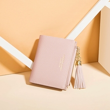 Mini Tassel Wallet Women Fashion Purse Female Short Wallets Korean Students Lovely Small for Wome