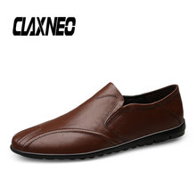 CLAXNEO Man Moccasins Slip on Casual Leather Shoes Male Loafers Genuine Mens Shoe clax Boat Footwear Big Size