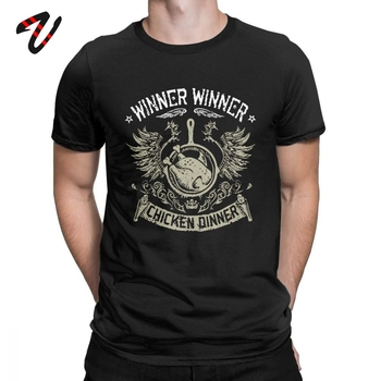 Game Tshirt WWCD Chicken Dinner T-Shirt Men Playerunknown's Battlegroundseat Shirts Funny Tees O Neck 100% Cotton Clothes image