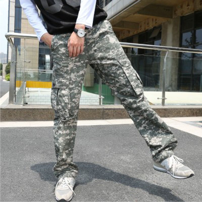 Special For Hot Models Fashion Multi-pockets Men Camouflage Pants Casual Workwear Men's Trousers
