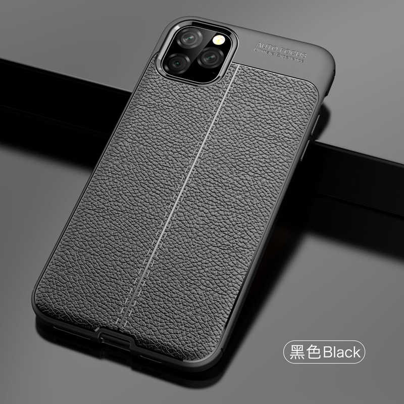 Case Voor iPhone 11 Pro Max iPhone11 Pro Case Cover luxe Zachte Siliconen Tpu Koolstofvezel Armor Shell Bumper coque
