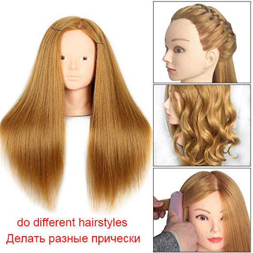 Professional Blonde hairdressing dolls head Female Mannequin Hairdressing Styling Training Head quality Mannequin Head