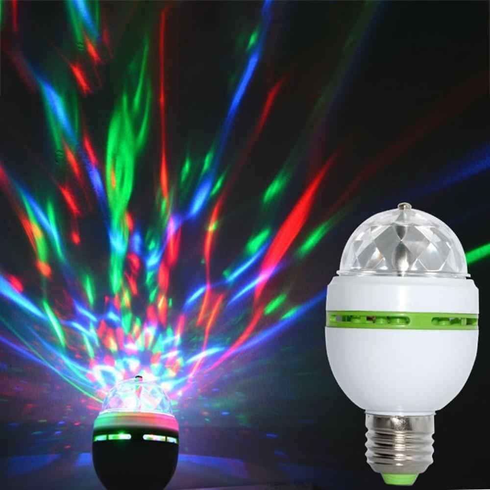 Led Crystal Magic Ball pie 3 vatios corriente constante Rgb colorido luces giratorias Ktv Bar boda linterna intermitente luces de escenario