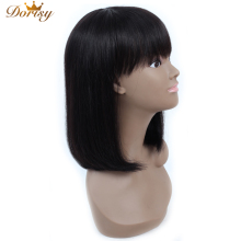 Short Human Hair Wigs Bob Wig Human Hair Wigs With Bangs For Black Woman Dorisy Non Remy Brazilian Short Bob Wig