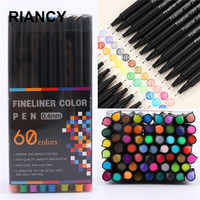 12/24/36/48/60pcs Colorful Neutral Marker Pen Fineliner Pens For School Office Pen Set Kawaii Ink Pen Art Supplies Cute 04031