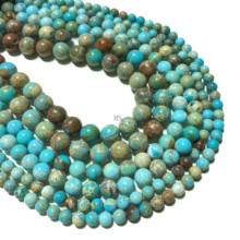 Natural Blue Sea Sediment Imperial Jasper Beads Round Loose Beads 4mm 6mm 8mm 10mm 12mm Healing Energy Necklace Bracelet Jewelry цена 2017