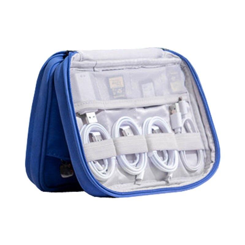 Cabo de viagem organizador saco de armazenamento digital sacos usb gadgets cabos fios carregador banco potência bateria zíper caso acessórios