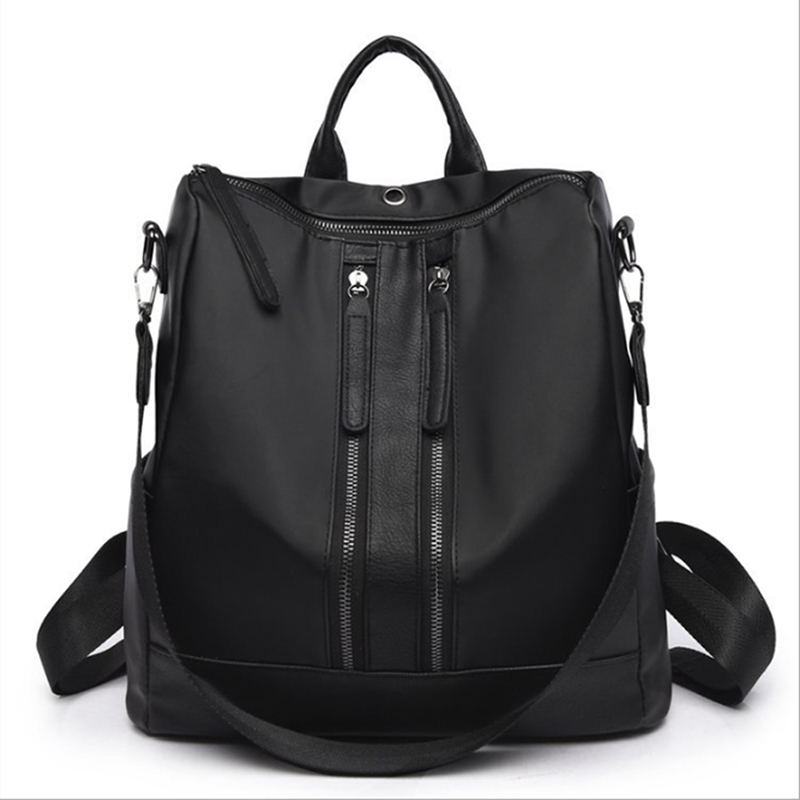Vintage Shoulder Bag Sport Backpack Jogging For Women Pu Leather Teenager Mochila Feminina Simple Outdoor Travel Bag City Bag