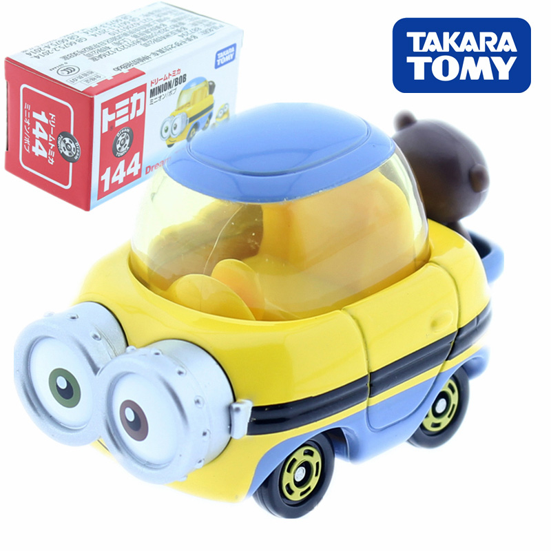 Tomica Dream Tomica Despicable Me Mion Bob Metal Cast Toy Car Model Vehicle Toys for Children Collectable image