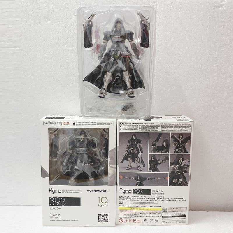 17cm ow Figma 393 Overwatches Reaper Series PVC Action Figure Model Toy Doll Gift